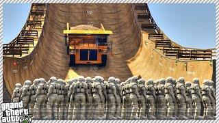getlinkyoutube.com-GTA 5 Vertical Mega Ramp - Epic Mega Ramp Moments | Vertical Ramp VS 100+ People (GTA 5 Gameplay)