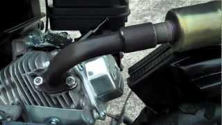 getlinkyoutube.com-Brute Power Pipes Mini Bike Exahust For HONDA CLONE / Doodle bug Review