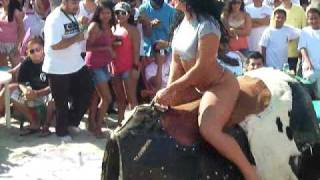 getlinkyoutube.com-hot girl riding mechanical bull