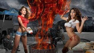 getlinkyoutube.com-Brittney Palmer and Arianny Celeste heat up for UFC 169 - Body Painting!!!