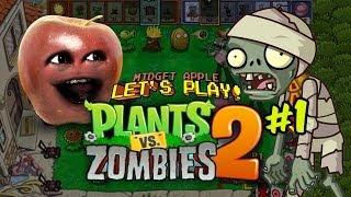 getlinkyoutube.com-Midget Apple - Plants vs Zombies 2 #1: Zombeh Killin' Time!