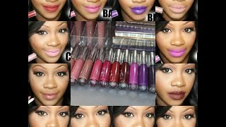 getlinkyoutube.com-12 COLOUR POP ULTRA MATTE LIP SWATCHES #PAINTEDLIPSPROJECT