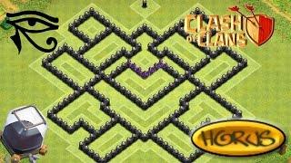 getlinkyoutube.com-Clash Of Clans: TH8 Farming Base - Horus