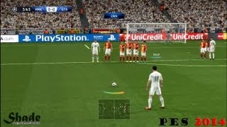 getlinkyoutube.com-Free Kicks From PES 3 to 14