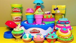 getlinkyoutube.com-Little Kelly - Toys & Play Doh : Play Doh Cupcake Set (Play-Doh, Ice-Cream, Cakes)