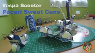 How to Make toy Vespa Scooter Out Of Pocari Sweat Cans