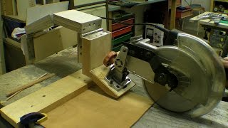 getlinkyoutube.com-DIY Glide Mitre Saw / Rail Free Chop Saw / Axial System