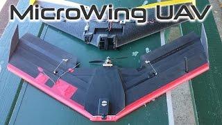 getlinkyoutube.com-Microwing UAV - foam board drone - HKPilot APM 2.5 - Autonomous KFM7 flying wing