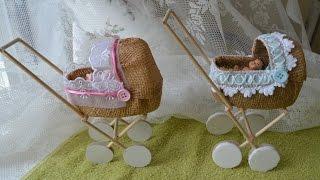 getlinkyoutube.com-Como fazer carrinho de bebe para barbie ou lembrancinhas de maternidade