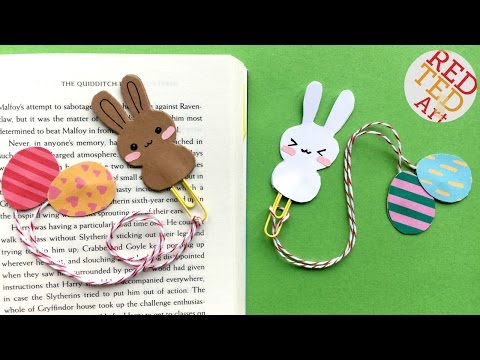 Easy Bunny Bookmark Easter