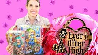 getlinkyoutube.com-Disney EVER AFTER HIGH videos Super GIANT Surprise EGG Mattel Dolls Princess Worlds Largest