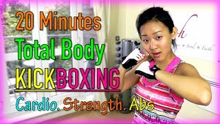 20 Minutes Total Body KICKBOXING! (Fat Burning Workout)