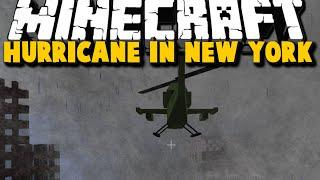 getlinkyoutube.com-Minecraft: HURRICANE DESTROYS NEW YORK - Hurricane, Helicopter Mod Showcase - Brothers [04]