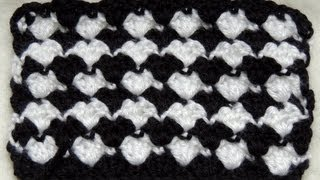 getlinkyoutube.com-Crochet : Punto Fantasia en Blanco y Negro # 2