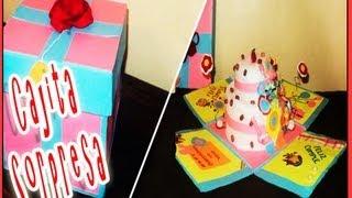 getlinkyoutube.com-Manualidades Cajita Explosiva con Pastel dentrol