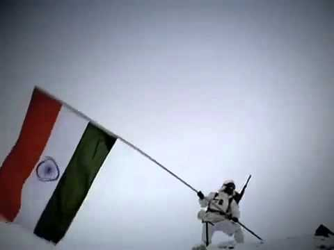 National Anthem Of India  at the Siachen Glacier
