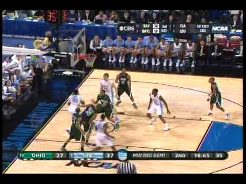 Stilman White - UNC Tar Heel Point Guard (UNC vs Ohio U)