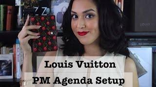 getlinkyoutube.com-Louis Vuitton PM Agenda Setup