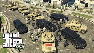getlinkyoutube.com-GTA 5 - Military ARMY Patrol #7 - Hood Raid (Convoy)