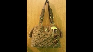 getlinkyoutube.com-CROCHET How to #Crochet Fan and V Stitch Handbag Purse with Liner #TUTORIAL #130