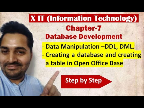 Class X | IT | # 6 | Data Manipulation –DDL, DML | Creating a database and Creating a table