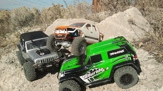 getlinkyoutube.com-RC Addiction - Traxxas Telluride trail driving