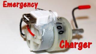 getlinkyoutube.com-Emergency mobile charger using DC Motor