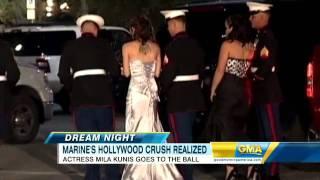 getlinkyoutube.com-Mila Kunis Attends Military Gala