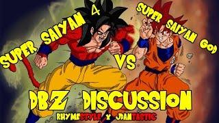 getlinkyoutube.com-Dragon Ball Z: Super Saiyan 4 Goku vs Super Saiyan God Goku (SSJ4 vs SS God Discussion)