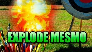getlinkyoutube.com-TESTE FLECHA EXPLOSIVA - SMOKE BOMB ARROW -DIY