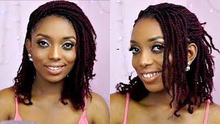 getlinkyoutube.com-How To Kinky Twists Crochet Braids Tutorial On Short Natural Hair