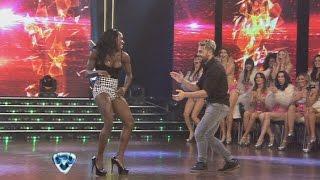 getlinkyoutube.com-Showmatch 2014 - Casting caliente: Rosemary bailó y se le escapó una lola