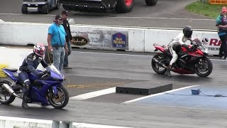getlinkyoutube.com-2016 Suzuki gsxr 1000 vs Nitrus Yamaha R6-street bike racing,drag racing,acceleration and top speed