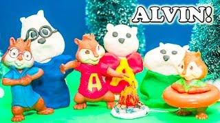 getlinkyoutube.com-ALVIN AND THE CHIPMUNKS Nickelodeon Alvin and The Chipmunks with Snow Play Doh Alvin Video Parody