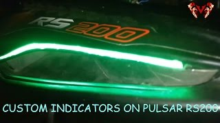 Custom indicators || Modified Pulsar RS200 || Concept in reality!