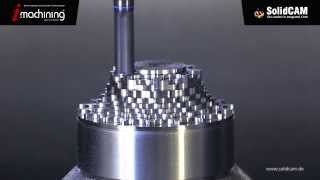 getlinkyoutube.com-SolidCAM - Impeller fräsen