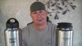 getlinkyoutube.com-Nalgene VS Klean ( Wide Mouth Stainless Steel Bottles)