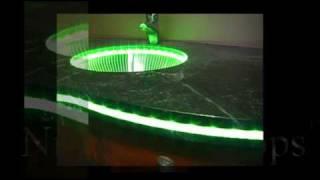 "getlinkyoutube.com-""NightLight Tops"" Countertops by Crafted Countertops - Custom Lighted LED"