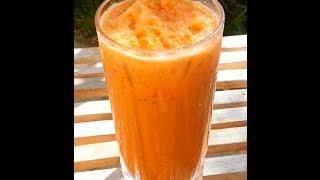 getlinkyoutube.com-How to make Thai Iced Tea -cha yen ชาเย็น -  Cách pha Trà Sữa Thái