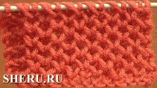 getlinkyoutube.com-How to Knit Honeycomb Stitch Pattern Урок  4 Узор спицами соты