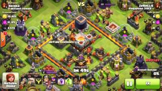 getlinkyoutube.com-Attacking TH11!  Eagle Artillery, Grand Warden Gameplay!