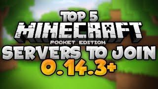 getlinkyoutube.com-TOP 5 SERVERS for MCPE (0.14.3+) - Prison, CTF, SG, & More!!! - Minecraft PE (Pocket Edition)