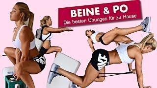 getlinkyoutube.com-Komplettes Beine/Po Homeworkout zum mitmachen | Zuhause trainieren wie im Gym mit Sophia Thiel