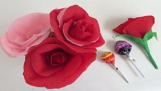 getlinkyoutube.com-ROSAS DE PAPEL. FLORES DE PAPEL. IDEAS PARA SAN VALENTIN. IDEAS PARA 10 DE MAYO. PAPER FLOWERS