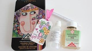 getlinkyoutube.com-Colored pencils blending technique + GIVEAWAY!!! ( SORTEO!!!)
