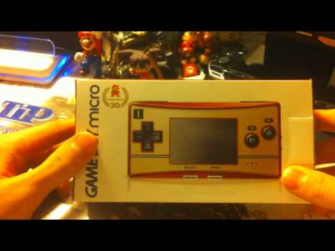 Japanese Famicom Edition Gameboy Micro Unboxing Video