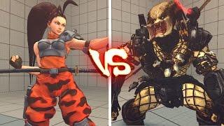 getlinkyoutube.com-Ultra street fighter 4 PC - Alien vs predator arcade Battle