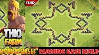 "getlinkyoutube.com-Town Hall 10 ""New"" Hybrid Farming Base / Trophy Base 2016 (STARS 2.0)"
