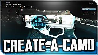 "BEST CUSTOM CAMOS! My ""Paintshop"" Designs! (Black Ops 3 Custom Camo)"