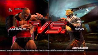getlinkyoutube.com-Tekken 6 Craig Marduk vs King Matches #1 6/10/11